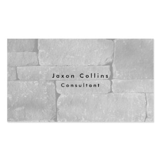 Simple Plain Grey Wall Minimalist Modern Pack Of Standard Business Cards