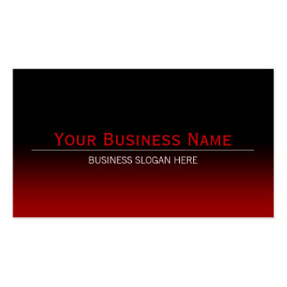 Simple Plain Modern Black & Red Gradient Pack Of Standard Business Cards
