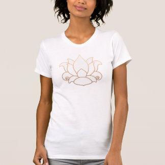 Simple White Lotus Yoga and Meditation Teacher Shirts