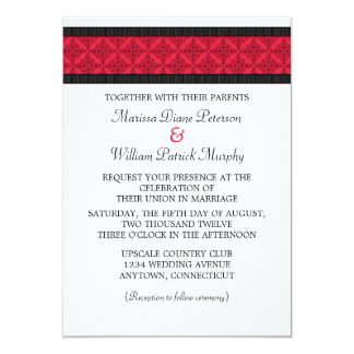 Simply Chic Damask Wedding Invitation