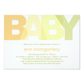 Simply Modern Baby Shower Invitation - Neutral