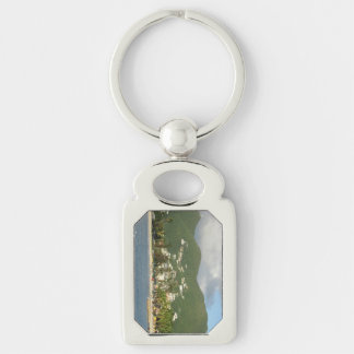 Simpson Bay St. Maarten Silver-Colored Rectangle Key Ring