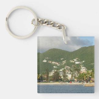 Simpson Bay St. Maarten Single-Sided Square Acrylic Key Ring
