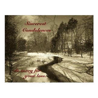 Sincerest Condolences Post Card