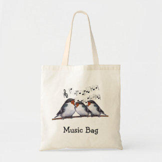 Singing Swallows: Birds: Music Bag, Choir Budget Tote Bag