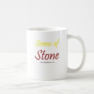 Sirens of Stone Text Yellow Basic White Mug