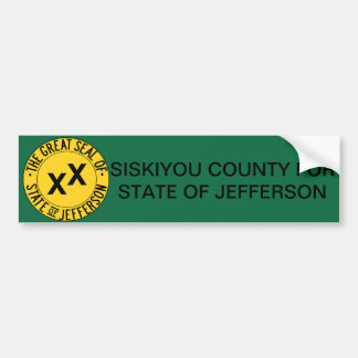 Siskiyou County for State of Jefferson sticker Bumper Sticker