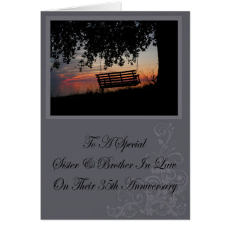 Sister & Brother In Law 35th Anniversary Card
