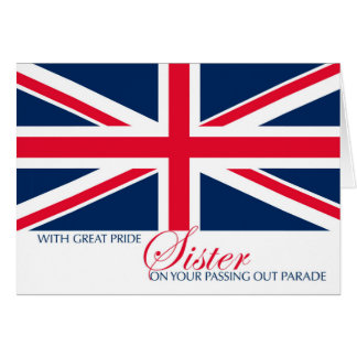 Sister Marching Passing Out Parade Congratulations Greeting Card