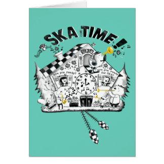 Ska Time Cuckoo Clock Greeting Card