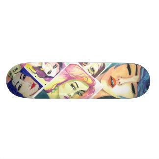 Skateboard - Crystal Cross Watercolors