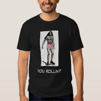 skater, you rollin'? t shirts