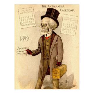 Skeletal Doctor Postcard