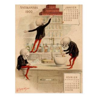 Skeletal Pharmacy Postcard