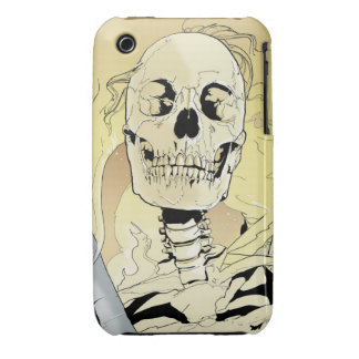 Skeleton on Fire iPhone 3 Case