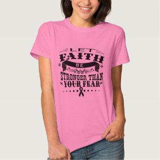 Skin Cancer Faith Stronger than Fear Tee Shirts