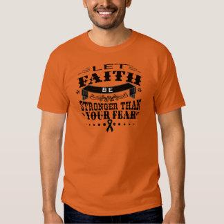 Skin Cancer Faith Stronger than Fear Tees