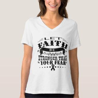 Skin Cancer Faith Stronger than Fear Tshirt