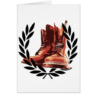 skins boots greeting card