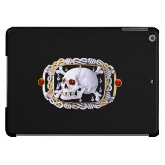 SKULL AND CROSSED BONES RUBY  RENAISSANCE JEWEL iPad AIR COVER