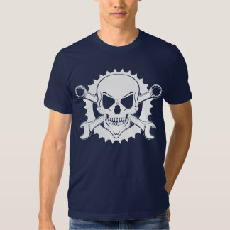 Skull and white spanners tshirts
