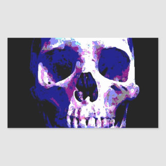 Skull Artwork Rectangular Sticker