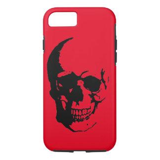 Skull - Black Red Heavy Metal Rock Fantasy Pop Art iPhone 7 Case