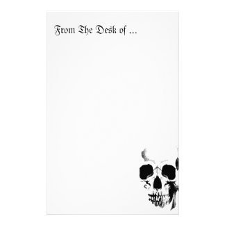 Skull Face Personalised Stationery