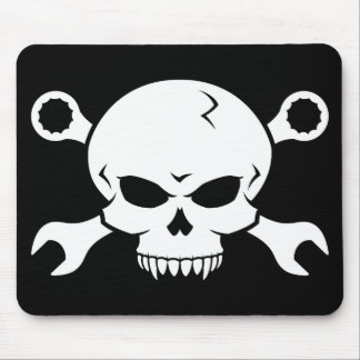 Skull 'n' Tools - Screw Pirate 2 (white) Mouse Pad