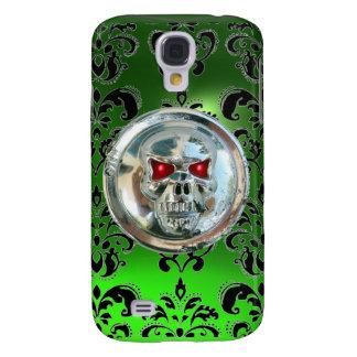SKULL RIDERS DAMASK GEM emerald Galaxy S4 Case