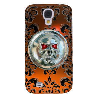 SKULL RIDERS DAMASK GEM orange agate Galaxy S4 Case
