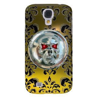 SKULL RIDERS DAMASK GEM Yellow TOPAZ Galaxy S4 Case