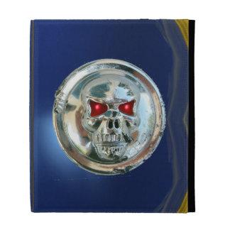 SKULL RIDERS MONOGRAM blue iPad Folio Covers