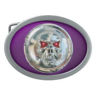 SKULL RIDERS purple Belt Buckle