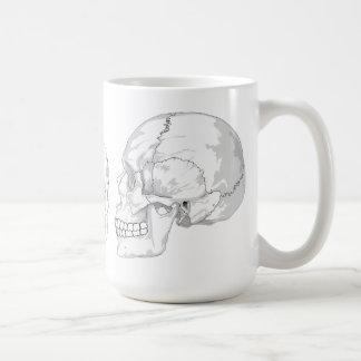 Skull Trio Basic White Mug