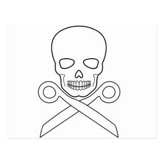 Skull-X-Scissors Postcard