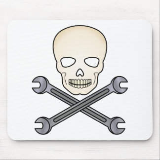 Skull & X-Wrench Mouse Pad