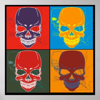 Skulls in Color Poster