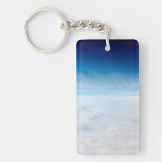 Sky Above The Clouds Single-Sided Rectangular Acrylic Key Ring