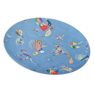 Sky Blue by Wassily Kandinsky Dinner Plate