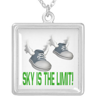 Sky Is The Limit Square Pendant Necklace