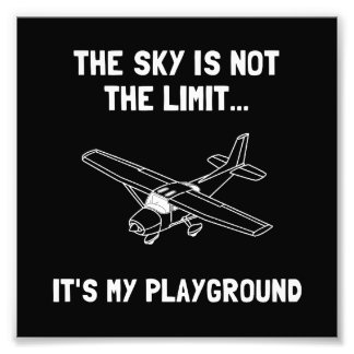 Sky Playground Plane Photograph