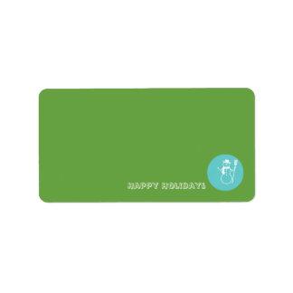 Skye - Green & Blue -  DIY Matching Address Labels