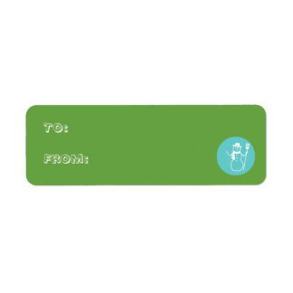 Skye - Green & Blue - Gift Tag Labels