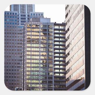 Skyscrapers in Chicago's financial district Square Sticker