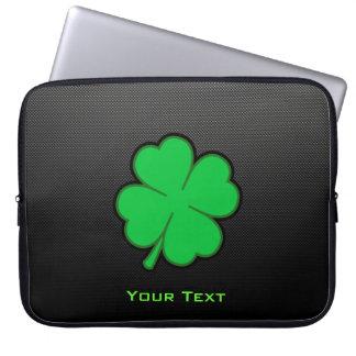 Sleek Shamrock Laptop Sleeve
