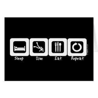 Sleep Dive Eat Repeat Greeting Card