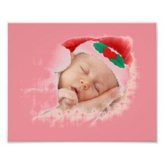 Sleeping Santa Baby Art Photo