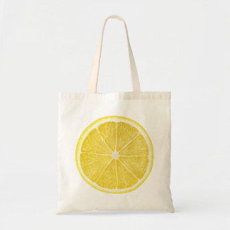 Slice of lemon budget tote bag