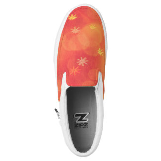 Slip-on sneakers with Bubbles & Flowers